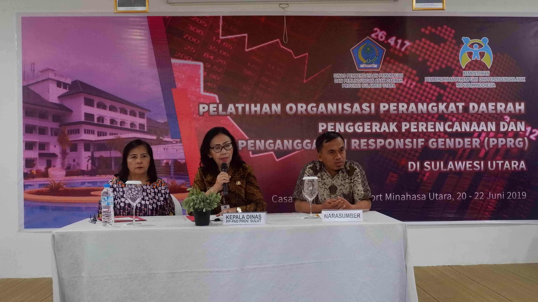 DP3AD Prov. Sulut Mengadakan Pelatihan Penyusunan Perencanaan Penganggaran yang Responsif Gender (PPRG) kepada 15 Kabupaten/Kota