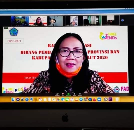 Rakor Virtual  bersama Kadis/Kaban P3A Kab/Kota se-Prov Sulut. bidang Pemberdayaan Perempuan dan Perlindungan Anak dimasa pandemi covid 19.